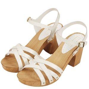 Topshop 'Nancy' Sandal Chunky Wooden Heel